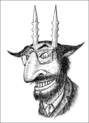 Карикатура на Салмана Рушді